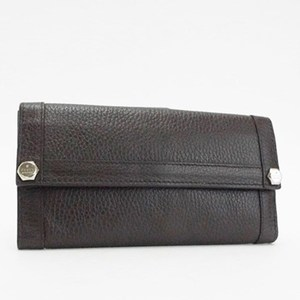 Gucci W Hock Long Wallet 231839 Dark Brown Leather GUCCI