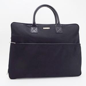 Burberry Blue Label Bag Briefcase Nylon x Leather Black BURBERRY A4 Storeable
