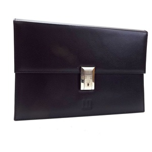 Dunhill second bag clutch leather black dunhill