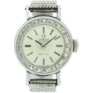 Omega Devil cut glass self-winding watch 551.038 silver 0047OMEGA Ladies