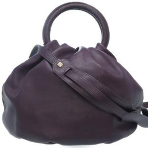 Loewe Bounce 2WAY Shoulder Handbag Nappa Leather Purple 0072LOEWE