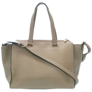 Valextra Passa Tote 2WAY Shoulder Bag Leather Gray
