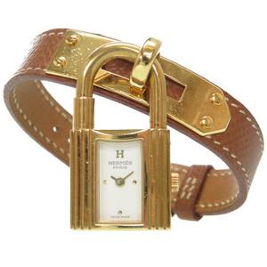Hermes Kelly Watch Quartz Kushbel Gold □ A Engraved 0115HERMES Ladies