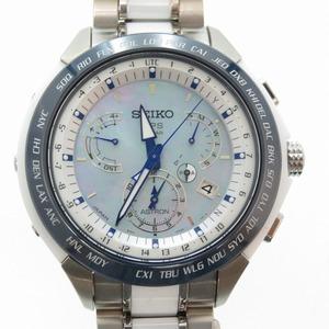 Seiko Astron GPS Solar Watch Dual Time 3000 Limited 8X53-0AA0-2 SBXB039 White Ceramic Titanium Shell Dial 0006SEIKO Men's