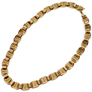 Salvatore Ferragamo Vara Necklace Gold Metal Accessory Choker 0122