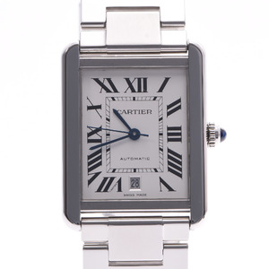 CARTIER Tank Solo XL Steel Watch Automatic Mens Watch
