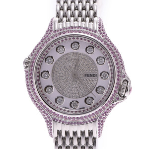 FENDI Fendi Crazy Carat Full Diamond Ladies SS Watch Quartz White Dial
