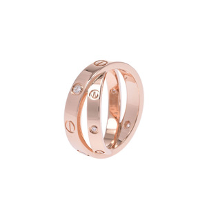 CARTIER Cartier Be love ring 6P diamond # 46 6 Ladies K18PG