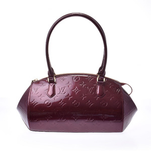 LOUIS VUITTON Louis Vuitton Verni Sherwood PM Rouge Forvist M91492 Ladies Monogram Handbag