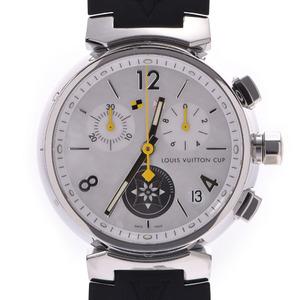 LOUIS VUITTON Louis Vuitton Tambour Chrono Lovely Cup Q11BA Boys SS Rubber Watch Quartz Shell Dial