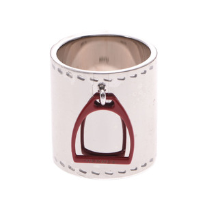 HERMES Hermes cylindrical type silver metal fittings unisex scarf ring
