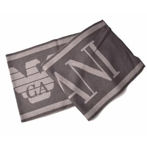Emporio Armani Muffler Winter Scarf Stall EMPORIO ARMANI Logo Gray 6Z1409 1MA1Z F624