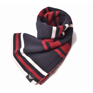 Emporio Armani muffler winter scarf stall EMPORIO ARMANI border pattern navy red white 6Z1413 1MA3Z F913
