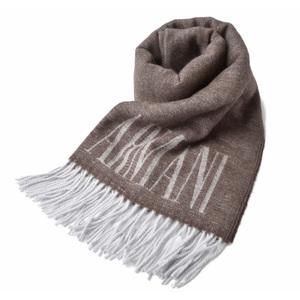 Emporio Armani muffler Winter scarf stall EMPORIO ARMANI COFFEE BROWN Cafe brown 625255 9A377 06752