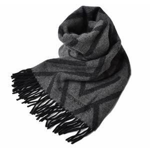 Emporio Armani Winter Scarf Stall EMPORIO ARMANI Logo Gray Black 625070 9A396 00041