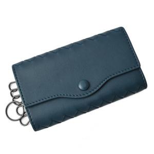 Bottega Veneta key case ring BOTTEGA VENETA 6 consecutive Intrecciato Nappa 284137 PETROL BLUE Blue