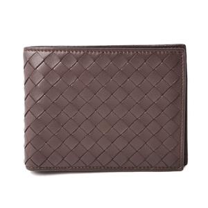 Bottega Veneta Wallet BOTTEGA VENETA Intrecciato Dark Brown 148324 Outlet