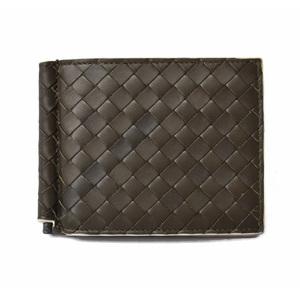 Bottega Veneta Wallet Money Clip BOTTEGA VENETA Calf 123180 Dark Green Off White