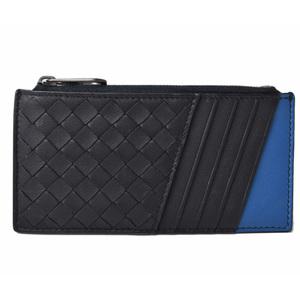 Bottega Veneta Card Case Coin BOTTEGA VENETA Intrecciato Leather Navy Blue 515284