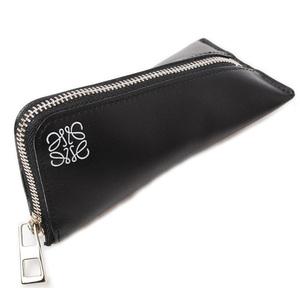 LOEWE coin case small purse calf black 109.54.K51