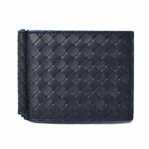 Bottega Veneta Wallet Money Clip BOTTEGA VENETA Calf 123180 Navy Blue