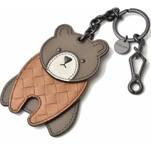 Bottega Veneta key ring BOTTEGA VENETA bag charm bear brown camel 525234