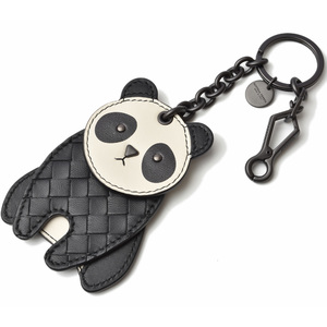Bottega Veneta key ring BOTTEGA VENETA bag charm panda black white 523439