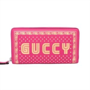 グッチ(Gucci) 2018SSコレクション レディース  カーフスキン 財布 ピンク