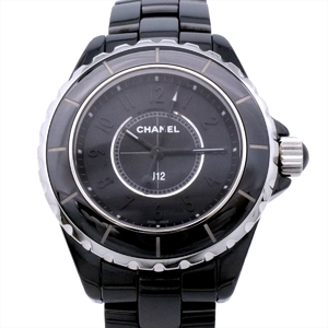 Chanel J12 Quartz Ceramic Women's Sports Watch Intense black one-shot model