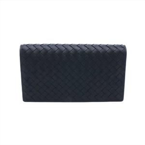 Bottega Veneta Intrecciato Continental Wallet Men's  Calfskin Wallet (bi-fold) Black