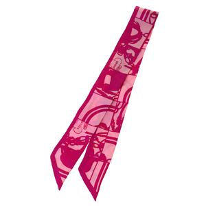 エルメス(Hermes) ツイリー シルク スカーフ ピンク