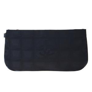 シャネル(Chanel) ニュートラベルライン ジャカード ポーチ ブラック