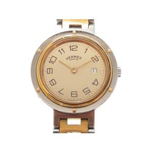 Hermes Clipper Quartz Watch Gold Silver Unisex 0033HERMES Men's Boys