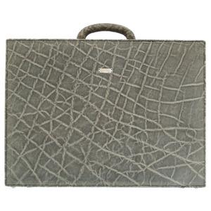 Valextra Elephant Gray Business Bag Attache Case 0112 Valextra Men's