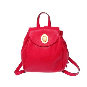 Christian Dior Leather Backpack Daypack Red Vintage 0077 Christian Ladies