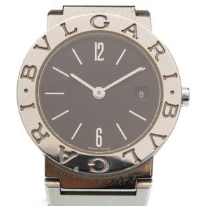 Bvlgari BB26SS quartz watch stainless steel black dial 0002BVLGARI Ladies