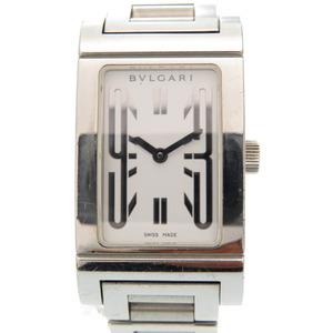 Bulgari Lettango Quartz Watch Stainless Steel White Dial 0003BVLGARI Ladies
