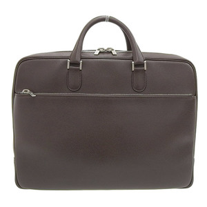 Valextra Leather Briefcase Business Bag Brown