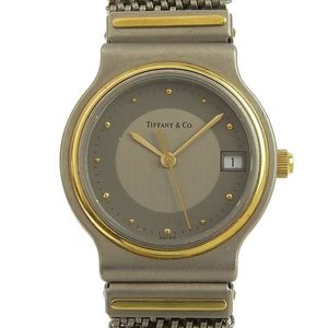 Tiffany & Co. Classic Titanium Ladies Quartz Watch YG
