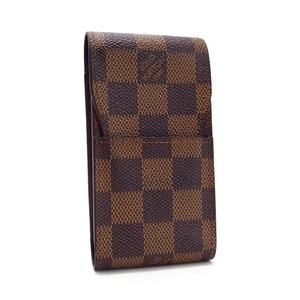 Louis Vuitton Damier Ebene Etui Cigarette Case N63024 LOUIS VUITTON Ladies Men