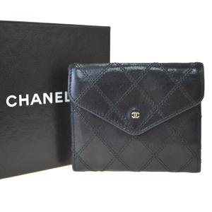 シャネル(Chanel) ビコローレ レザー 小銭入れ・コインケース ブラック