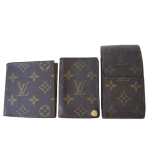 ルイ・ヴィトン(Louis Vuitton) モノグラム 3点セット シガレット フォト ケース モノグラム 札入れ(二つ折り) ブラウン