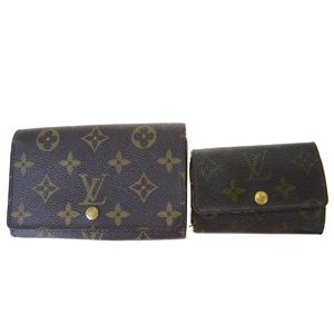 ルイ・ヴィトン(Louis Vuitton) 2点セット キーケース M62630 M61730 モノグラム 中財布(二つ折り) ブラウン