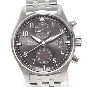 IWC Mens Watch Pilot's Spitfire Chronograph IW387804 Gray Dial
