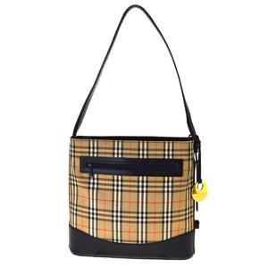 Burberry Nova Check Canvas Shoulder Bag Beige