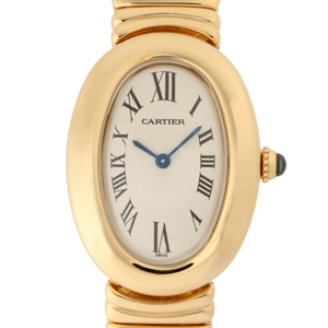 CARTIER Venuire SM Ladies Watch W15045D8 18K Yellow Gold Ivory Roman Dial