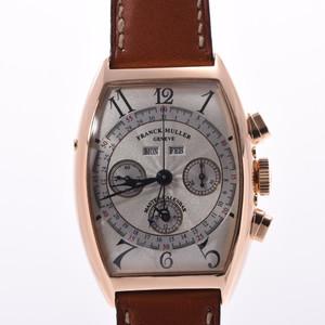 FRANCK MULLER Franck Muller Master Calendar 6850CCMC Mens YG Leather Watch Hand-wound Silver Dial