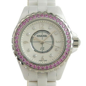 Chanel CHANEL J12 Ladies quartz watch bezel pink sapphire H3243