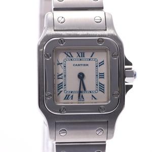 CARTIER Cartier Santos Galve SM Ladies SS watch quartz white dial