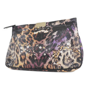 Jimmy choo leopard print patent leather clutch bag second brown 20180320
